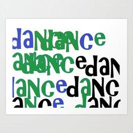dance in green Art Print