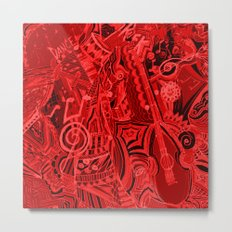 Red Hot Music Metal Print