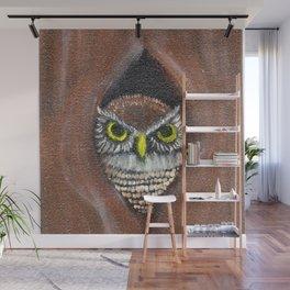 Peek a Boo Owl Wall Mural