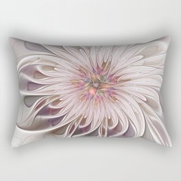 Floral Beauty, Abstract Fractal Art Rectangular Pillow