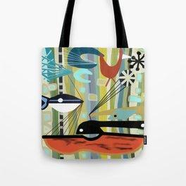 Mid Century Modern Fish Art Tote Bag