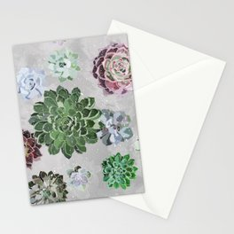 Simple succulents Stationery Cards