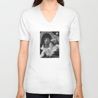 grace V-neck T-shirts featuring Grace by TheDraw