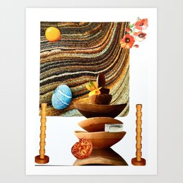 Sand Bowls Art Print