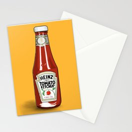 A love of Ketchup Stationery Cards
