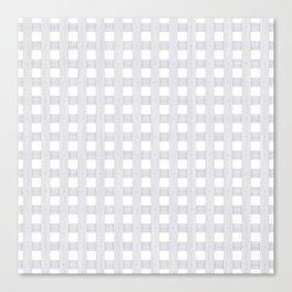 Light Grey Wood Lattice Canvas Print
