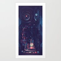 nursery Art Prints featuring Planet Nursery by Sylvia Ritter