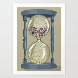 Endangered hourglass Art Print