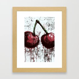 Oil and Cherries Framed Art Print