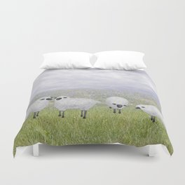 sheep and chicory Duvet Cover