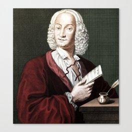 Antonio Vivaldi (1678-1741) by Morellon de la Cave in 1725 Canvas Print