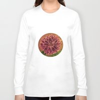 dahlia Long Sleeve T-shirts featuring Dahlia  by maggs326