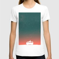 happiness T-shirts featuring Quiet Night - starry sky by Picomodi