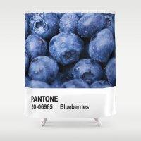 pantone Shower Curtains featuring PANTONE - Blueberries by Et Voilà