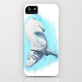Baby Hippo On Toe Underwater Fantasia Ballet iPhone Case