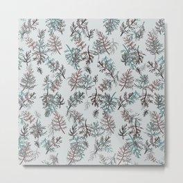 Thuja Leaves Blue Metal Print