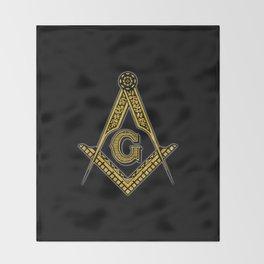 Freemason (Black & Gold) Throw Blanket
