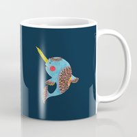 narwhal Mugs featuring The Narwhal by haidishabrina