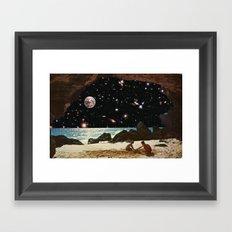 it's always sunny in space Framed Art Print