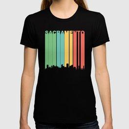Vintage 1970's Style Sacramento Cityscape T-shirt