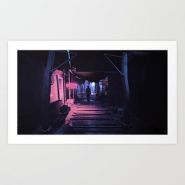 Diamond City Nights Art Print