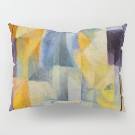 "Robert Delaunay ""Simultaneous Windows onto the City"" (1st Part, 2nd Motif, 1st Replica) Pillow Sham"