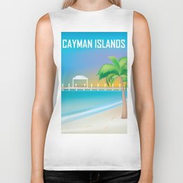 Cayman Islands - Skyline Illustration by Loose Petals Biker Tank