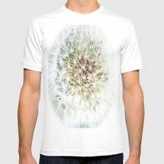 Dandelion SMALL White Mens Fitted Tee