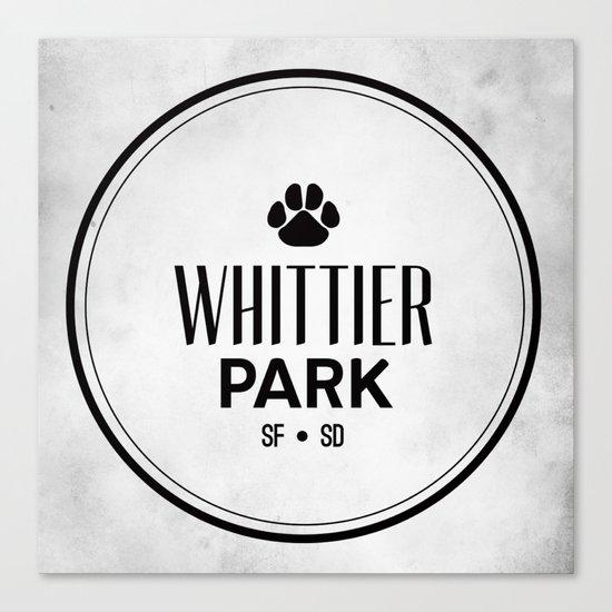 Whittier Park Canvas Print