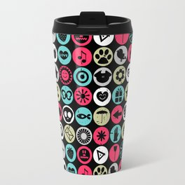 Colorful pattern with various elements Travel Mug