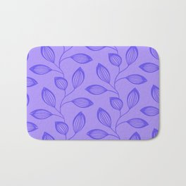 Climbing Leaves In Blue On Cold Lilac Bath Mat