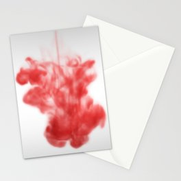 Red ink drop Stationery Cards