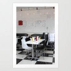 Boogie's Diner Art Print