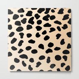 Leopard animal print Metal Print