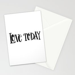 Love Today: white Stationery Cards