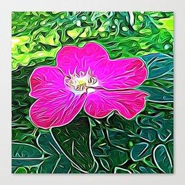 Magenta Flower of Harmony Canvas Print