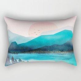 Morning Mountain Mist Rectangular Pillow