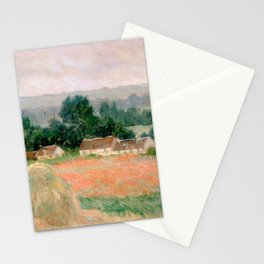 Haystack at Giverny by Claude Monet Stationery Cards