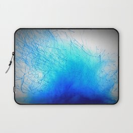 Crackling Blue Fire Laptop Sleeve