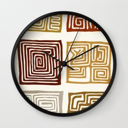 African Ceremonial Pattern Wall Clock