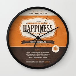 Happiness Wall Clock