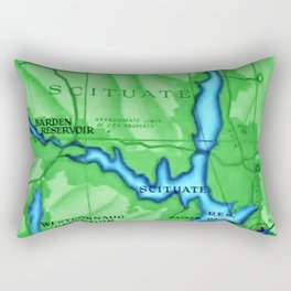 Scituate, Rhode Island Map - Scituate, Rhode Island Rectangular Pillow
