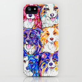 Collies in Colour iPhone Case