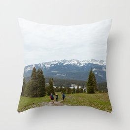 Hiking to Lake Irwin Throw Pillow