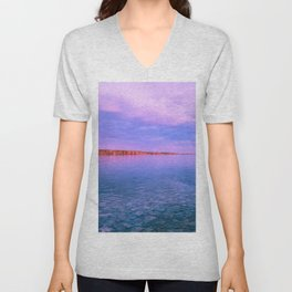 Sky, water and silence Unisex V-Neck