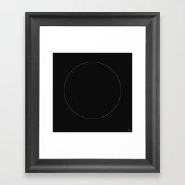 The White Circle Framed Art Print
