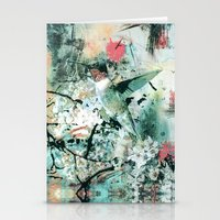 hummingbird Stationery Cards featuring Hummingbird by RIZA PEKER