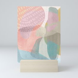 Shapes and Layers no.16 - Watercolor and pastel abstract painting Mini Art Print