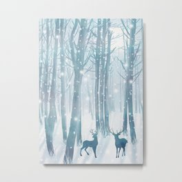 Under the tall forest trees II Metal Print