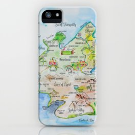 Map of the Faerie Realm iPhone Case